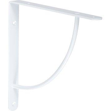 Equerre Bi bop acier epoxy blanc, H.23 x P.23 cm