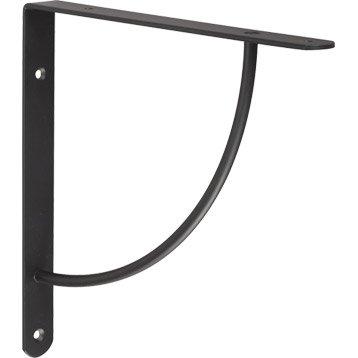 Equerre Bi bop acier epoxy noir, H.23 x P.23 cm