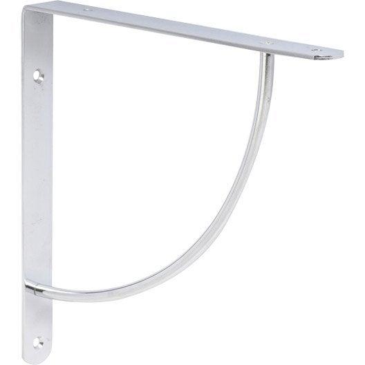 querre d corative bi bop en acier chrom gris 23 x 23 cm leroy merlin. Black Bedroom Furniture Sets. Home Design Ideas