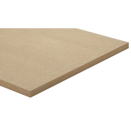 panneau mdf m dium ordinaire naturel l250 x l122 epais 22mm leroy merlin. Black Bedroom Furniture Sets. Home Design Ideas