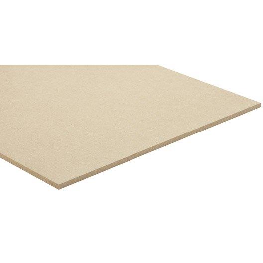 panneau mdf m dium ordinaire naturel l250 x l122 epais 10mm leroy merlin. Black Bedroom Furniture Sets. Home Design Ideas