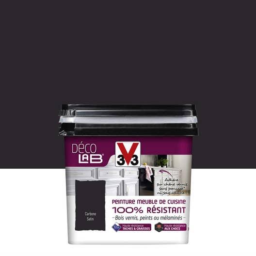 Peinture Décolab meuble de cuisine 100%Résist V33, Noir carbone ...