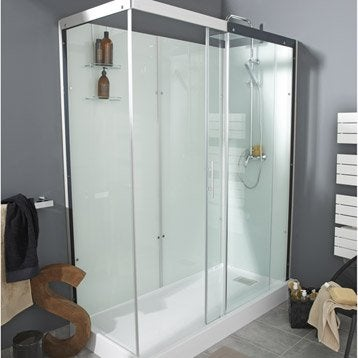 cabine de douche thalaglass 2 simple mitigeur rectangulaire 170x80 cm. Black Bedroom Furniture Sets. Home Design Ideas