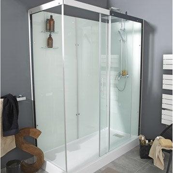 Cabine de douche douche leroy merlin - Cabine de douche rectangulaire 120x80 ...
