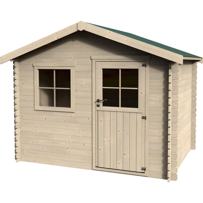 Abri de jardin bois Yorkton, 5.39 m² Ep.28 mm   Leroy Merlin