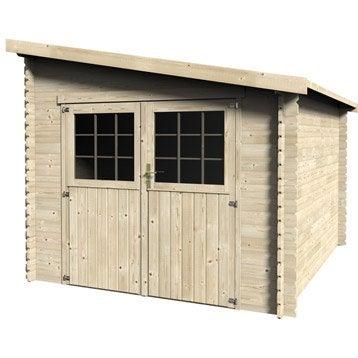 Abri de jardin bois Esprit, 7.29 m² Ep.28 mm