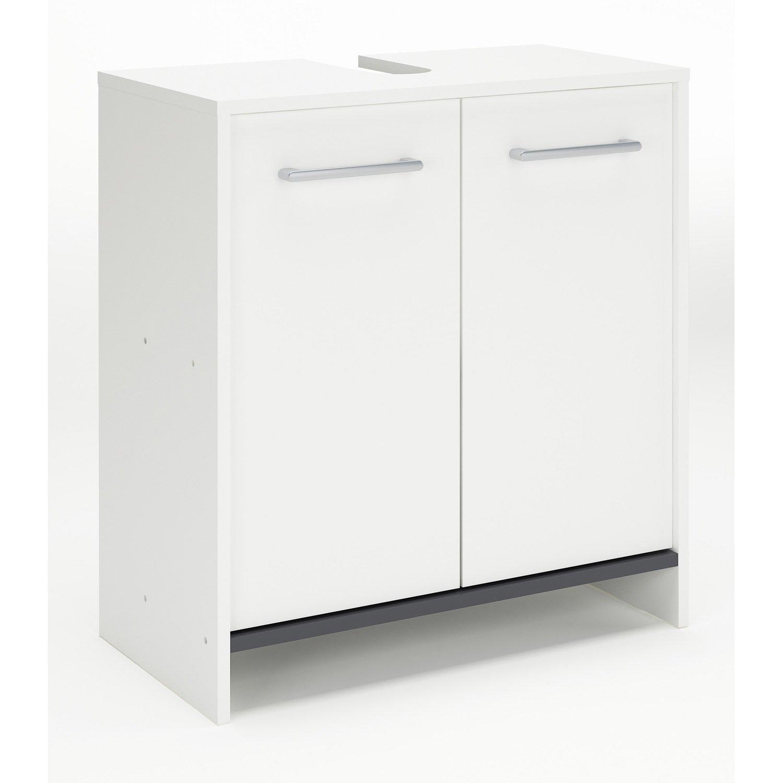 meuble de salle de bains de 60 79 blanc nerea blanc 60 cm