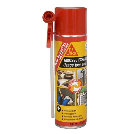 Mousse expansive sikaboom xl multiposition sika 500 ml leroy merlin - Sika stop mousse pro ...