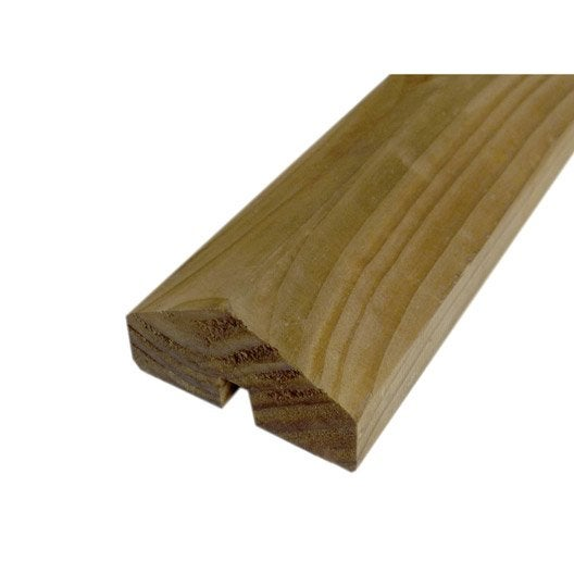 profil de finition bois douglas marron x l 3 3 x p 7 cm leroy merlin. Black Bedroom Furniture Sets. Home Design Ideas