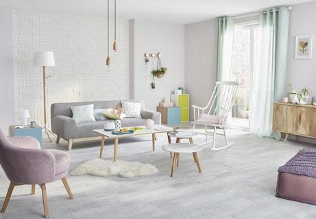 Un intérieur pastel des murs aux meubles