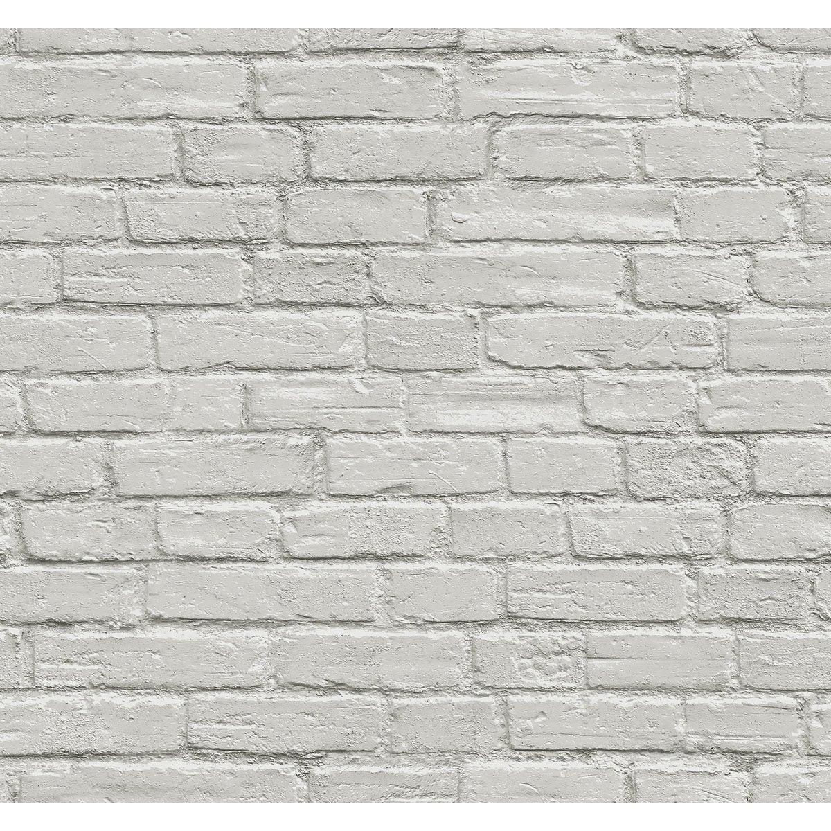 Papier Peint Vinyle Brique 3d Gris Leroy Merlin