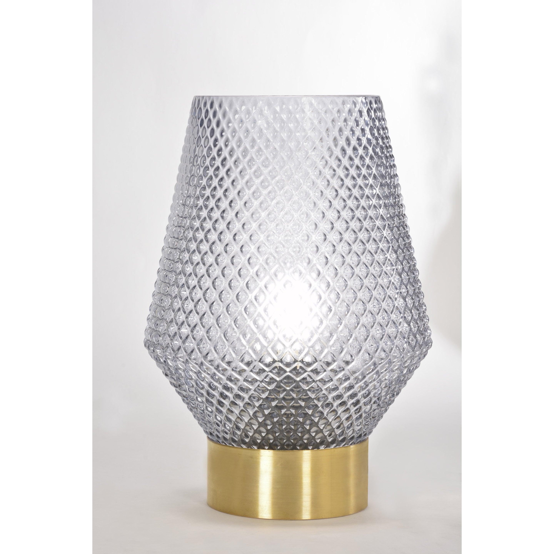 Lampe, chic, verre fumé, COREP Acerola