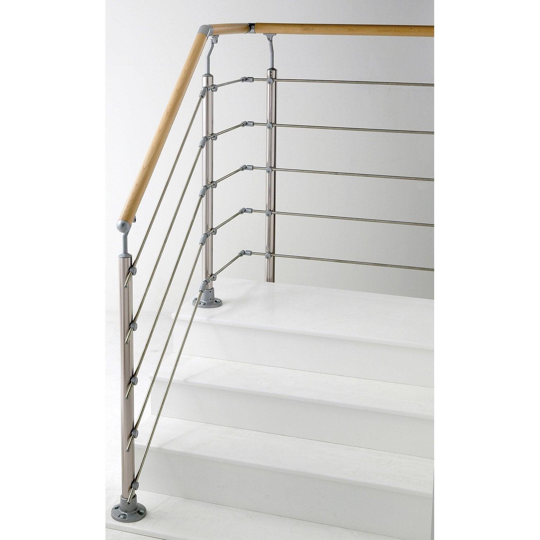 Rampe D Escalier Murale Bois platine de réglage laqué 159 x 6.6 x 119mm, obapi