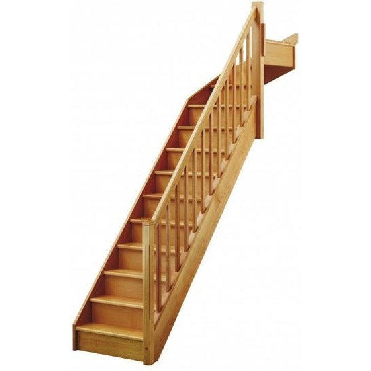 escalier quart tournant en haut