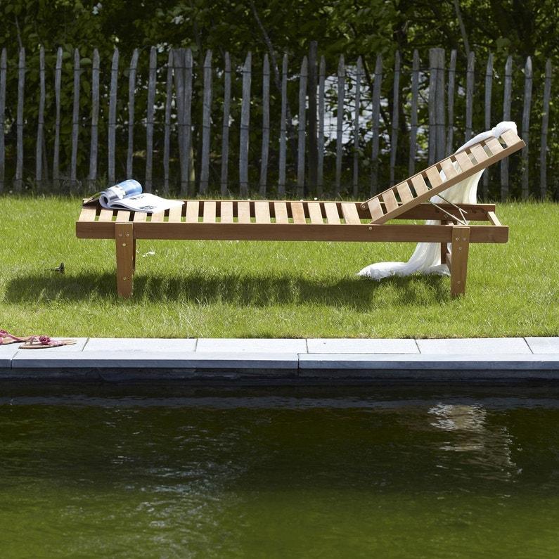 bac1a42ce4392 ... Bain de soleil de jardin en bois Porto brun ...
