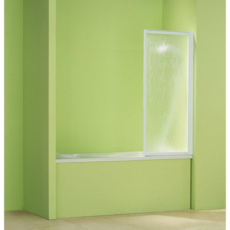 pare baignoire 1 volet pivotant cm x cm acrylique granit g01 leroy merlin. Black Bedroom Furniture Sets. Home Design Ideas