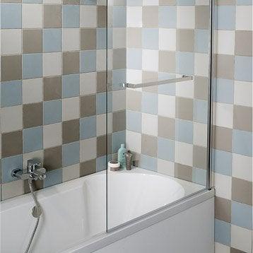 Pare-baignoire 1 volet verre de sécurité 6 mm transparent, Purity2