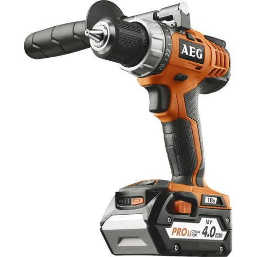 Perceuse sans fil AEG POWERTOOLS, 18 V 4 Ah, 2 batteries