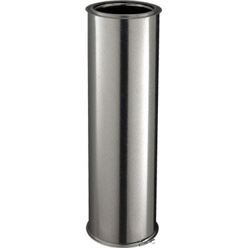 Tuyau pour conduit double paroi POUJOULAT, D150 mm 0.95 m Ep.25 mm