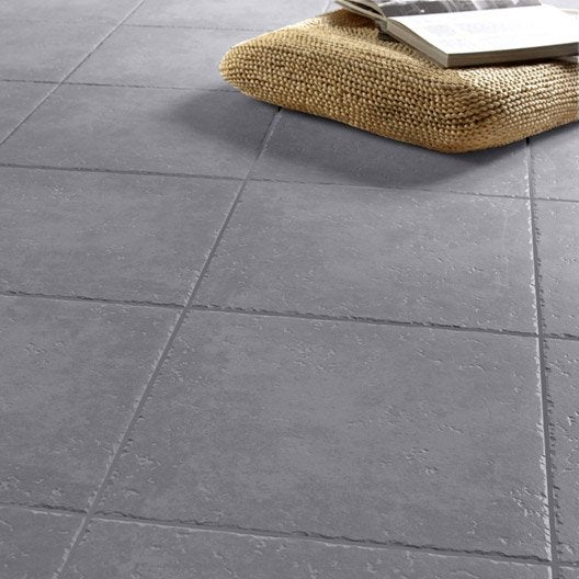 Carrelage sol gris anthracite effet pierre michigan x for Carrelage interieur gris anthracite