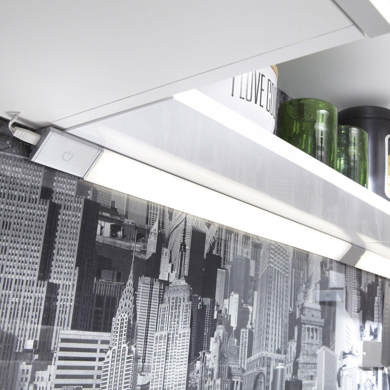 Extension réglette à fixer triangle led intégrée 35 cm Rio INSPIRE 3,5 W gris