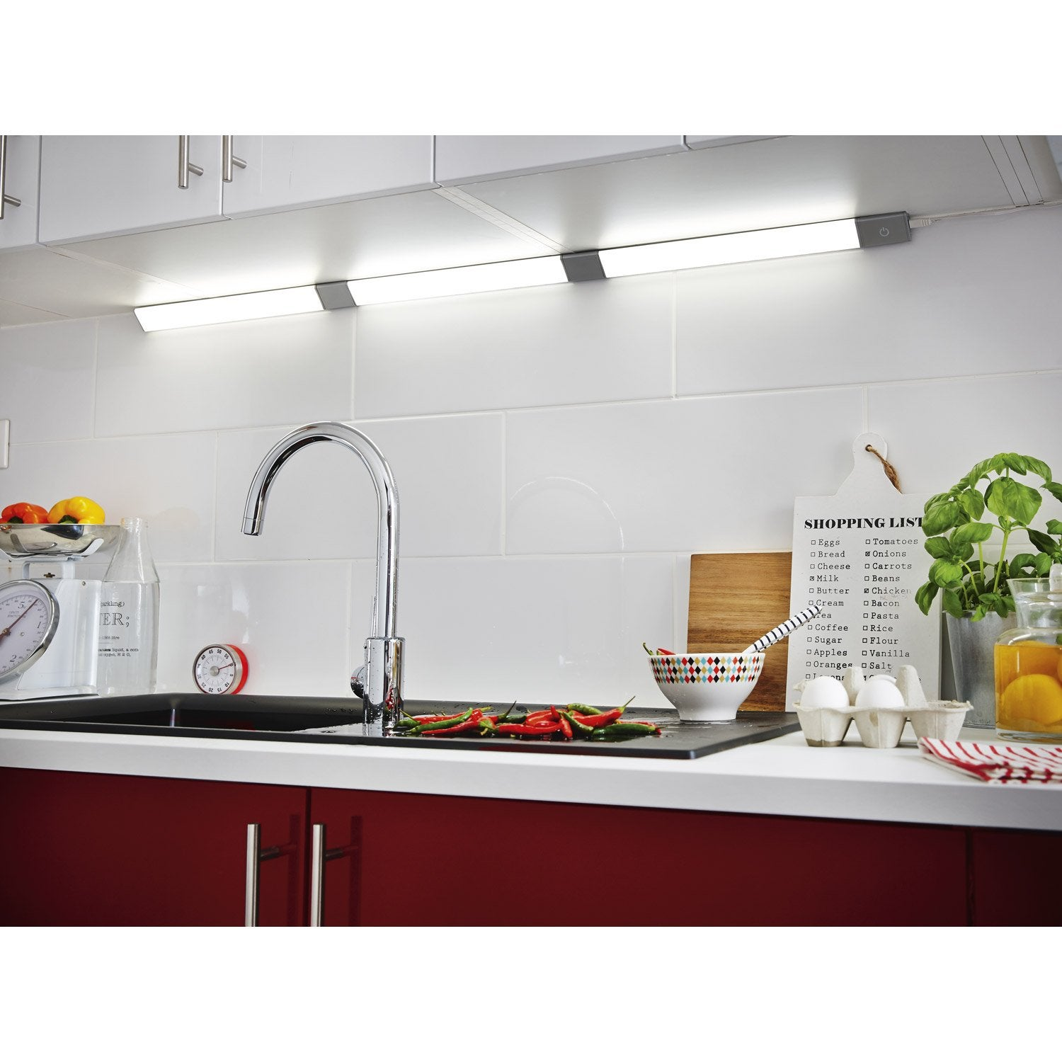 R glette fixer triangle led int gr e 35 cm rio inspire 3 for Reglette led cuisine