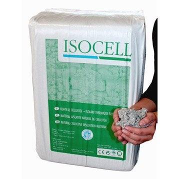 Ouate de cellulose à épandre ou à souffler, 10 kg, r variable selon l'épaisseur