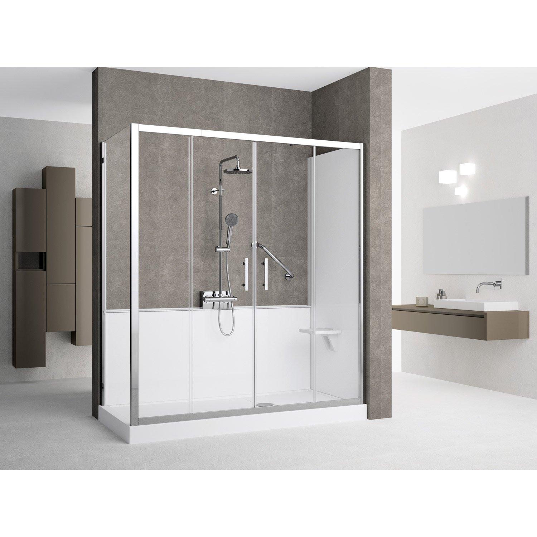 kit de remplacement baignoire par douche en angle 80x170. Black Bedroom Furniture Sets. Home Design Ideas