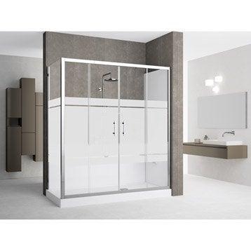 Kit de remplacement baignoire par douche en angle 80X170 cm, Elyt evolution 2.0