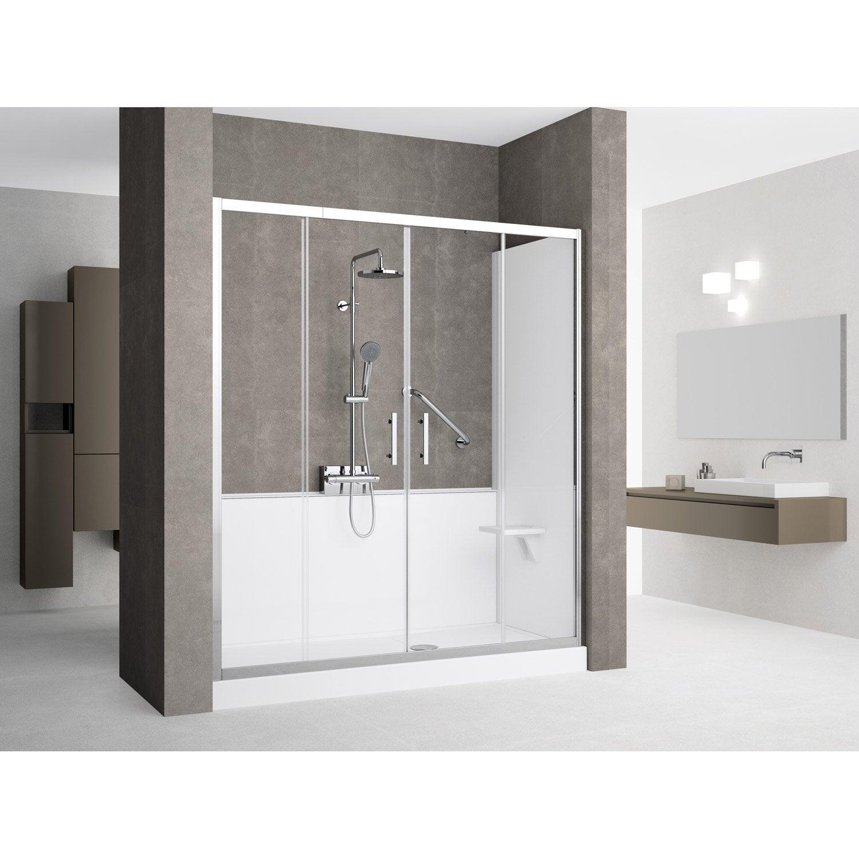 kit de remplacement baignoire par douche en niche 80x170 cm elyt evolution 2 0 leroy merlin. Black Bedroom Furniture Sets. Home Design Ideas