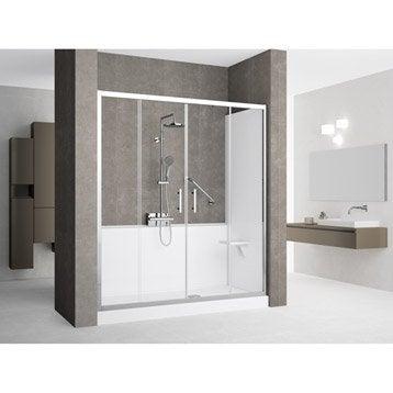 Kit de remplacement baignoire par douche en niche 70X160 cm, Elyt evolution 2.0