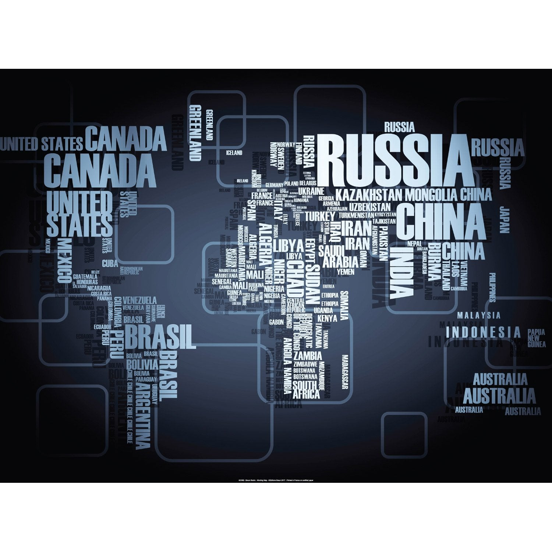 Affiche Wording Map l.81 x H.61 cm
