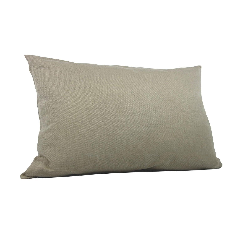 Coussin Savanna, beige lin l.60 x H.40 cm
