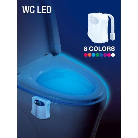 lampe de toilettes led piles changement de couleurs leroy merlin. Black Bedroom Furniture Sets. Home Design Ideas