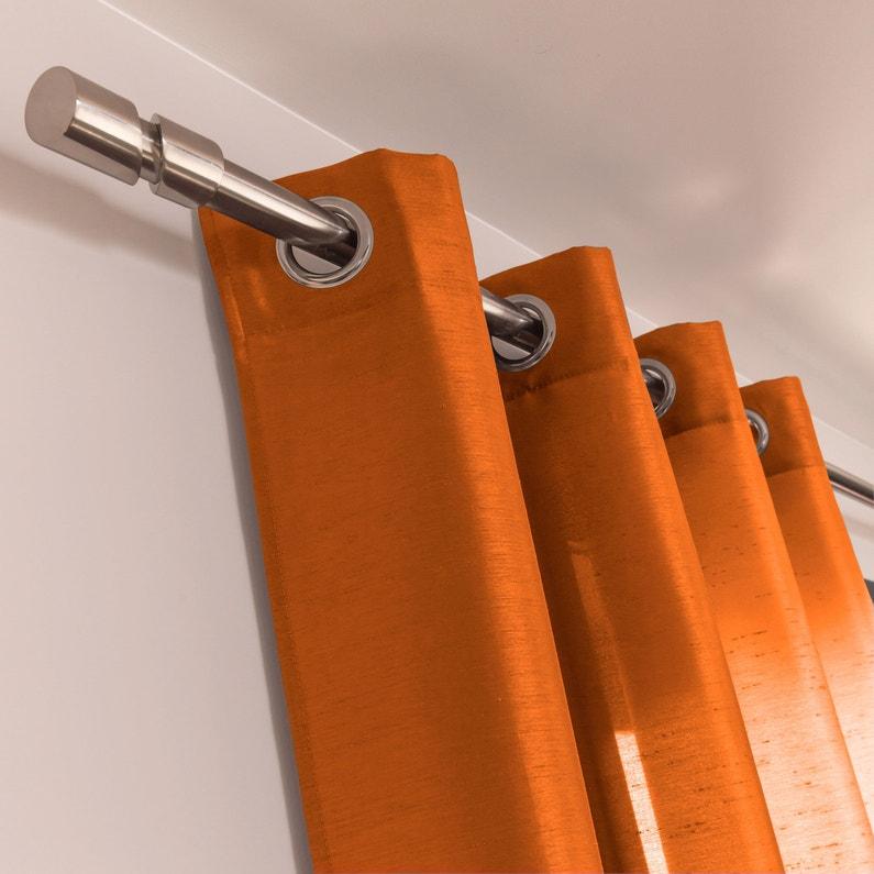 Rideau Tamisant Silka Orange L 140 X H 260 Cm Inspire Leroy Merlin