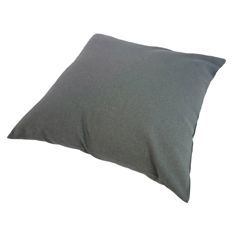Coussin d'assise de chaise ou de fauteuil Sunny INSPIRE, gris foncé l.40 x H.40