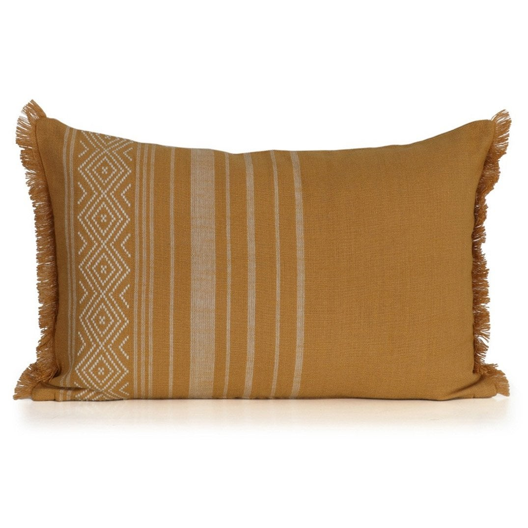 Coussin Ethno INSPIRE, moutarde l.60 x H.40 cm