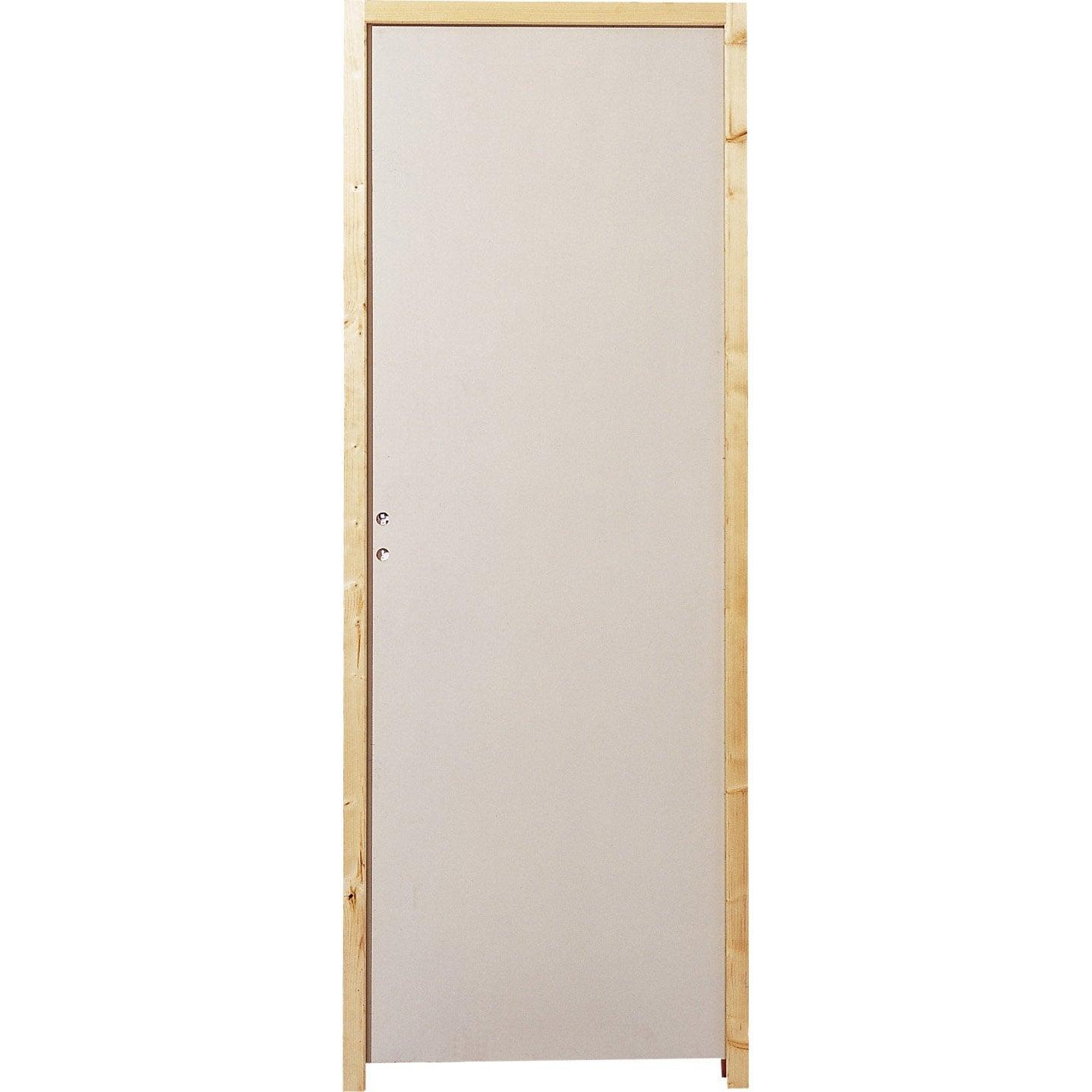 Decoration Porte Interieur Baguette bloc-porte isoplane huisserie 65 mm h.204 x l.73 cm, poussant droit