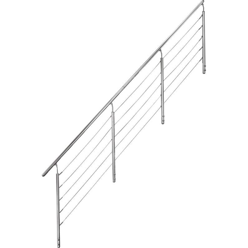 Rambarde Cable Escatwin Obapi Rolo Avec Main Courante En Aluminium