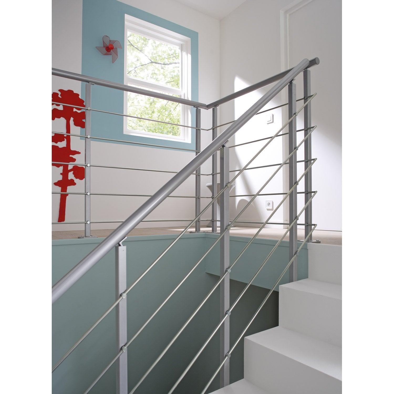 Rampe escalier corde leroy merlin awesome escalier exterieur metal leroy merlin escalier - Garde corps verre leroy merlin ...