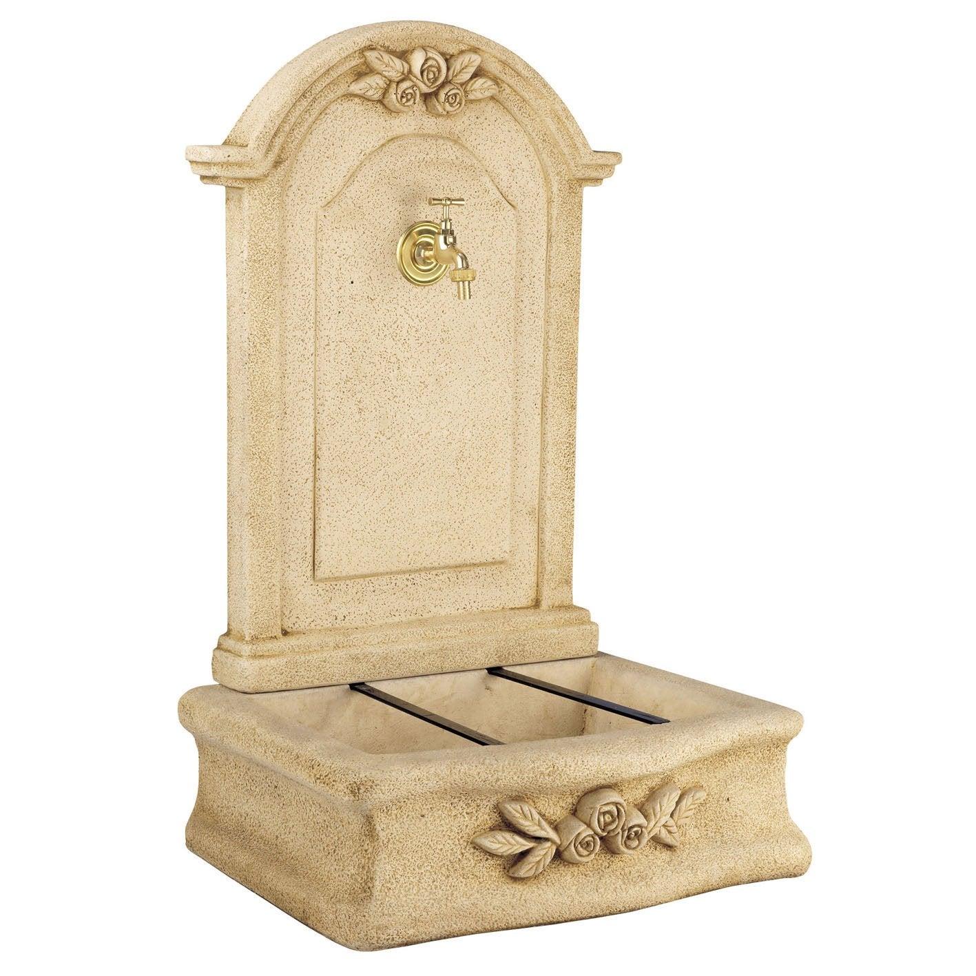 fontaine de jardin en pierre reconstitu e ton pierre beausoleil leroy merlin. Black Bedroom Furniture Sets. Home Design Ideas