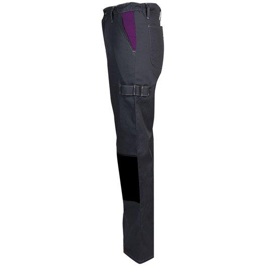 pantalon de travail fashion securite pep 39 s gris violet taille 44 46 leroy merlin. Black Bedroom Furniture Sets. Home Design Ideas