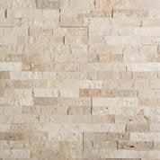 Plaquette de parement Nora Travertin en pierre naturelle, beige