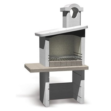 Barbecue fixe barbecue b ton barbecue en pierre leroy merlin - Faire un barbecue en beton cellulaire ...