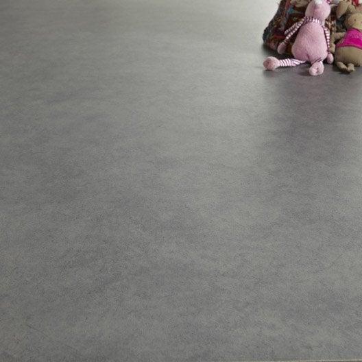 Sol PVC gris galet n°3 gris galet 3, ARTENS Reflex l.4 m