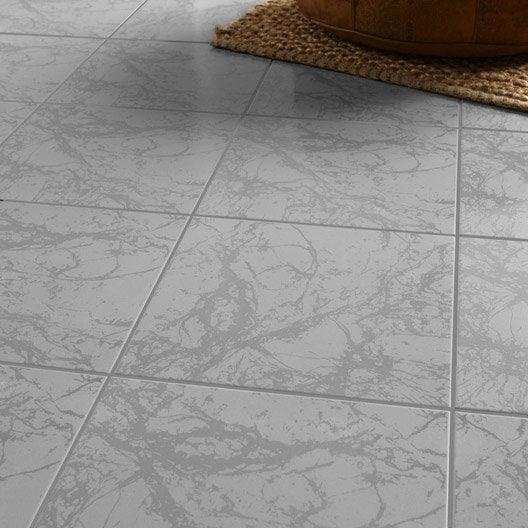 Carrelage sol et mur effet marbre polaire leroy merlin for Carrelage en marbre prix