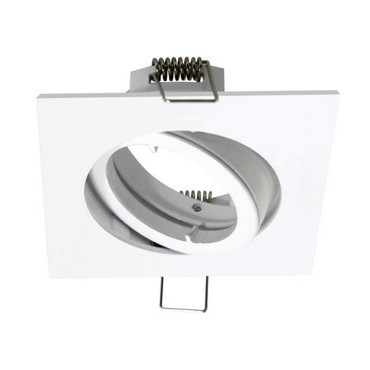 Anneau pour spot encastrer bama orientable sans ampoule inspire blanc ler - Spot encastrable plafond design ...