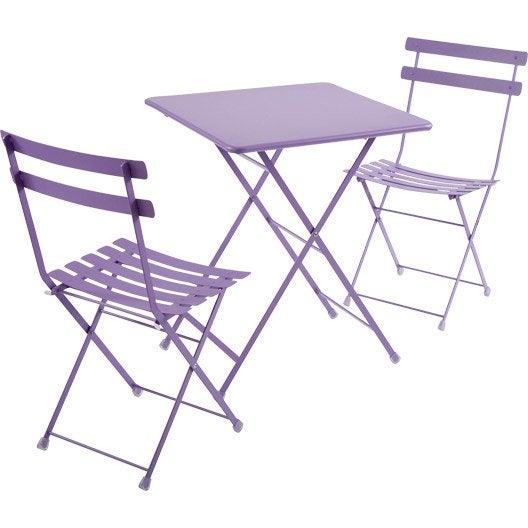 salon de jardin rainbow oasi by emu 1 table 2 chaises leroy merlin. Black Bedroom Furniture Sets. Home Design Ideas