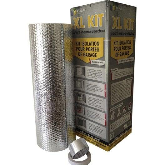 Kit porte de garage xl mat leroy merlin - Kit isolation porte de garage ...