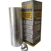Kit porte de garage XL MAT 10x0.6m, Ep.3mm
